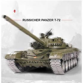 """TANQUE TELEDIRIGIDO """"RUSSICHER T-72"""" HENG LONG 1:16 2.4Ghz V 6.0 - PRO"""